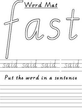 Independent Sight Word activity (whiteboard and play doh)