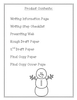 Independent Snowman Writing