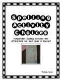 Independent Spelling Activities for Students