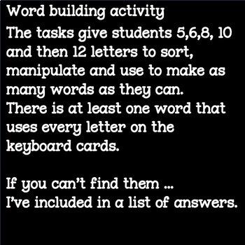 Independent Spelling & Word Building Activity BOGGLE BUNDLE Literacy Center Task