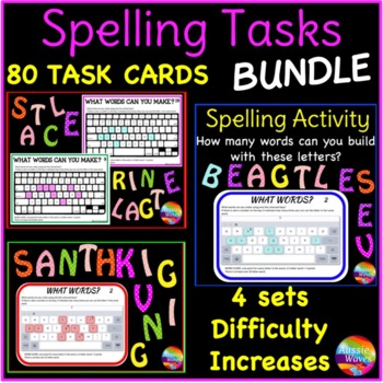 Independent Spelling & Word Building Activity BOGGLE BUNDLE Literacy Center Task