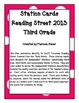 Independent Stations Cards - Reading Street 2013 - 3rd Grade - Unit 1