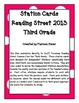 Independent Stations Cards - Reading Street 2013 - 3rd Grade - Unit 3