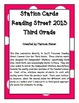 Independent Stations Cards - Reading Street 2013 - 3rd Grade - Unit 5