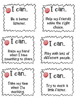 Independent Student Behavior Goals