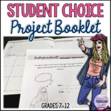 Independent/Student Choice Project Workbook - Home Packet