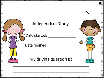 Independent Study Planning Guide K-3 Primary Version