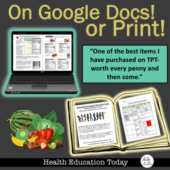 Health Curriculum: Independent Study Nutrition Unit