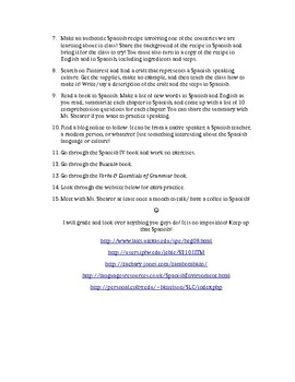 Independent Study for High School Spanish Students
