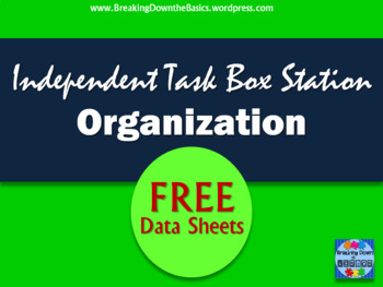 Independent Task Box Station Data Sheets
