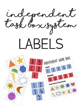 Independent Task System Labels