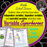 Independent Variable, Dependent Variable, and Constants Superhero Assignment
