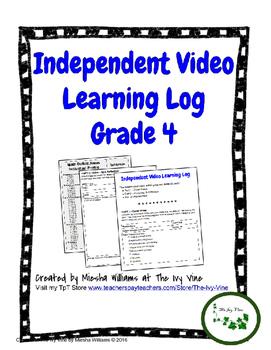 Independent Video Learning Log (Grade 4)