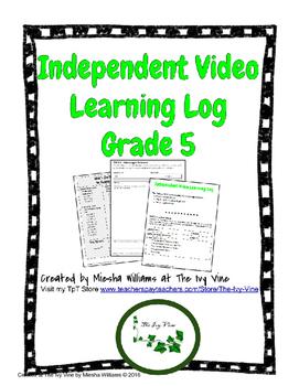 Independent Video Learning Log (Grade 5)