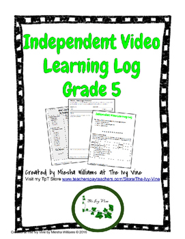 Independent Video Learning Log (Grade 5)