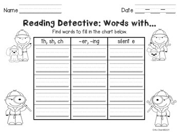 Independent Word Work--Be a Reading Detective!
