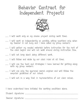 Independent Work Contract