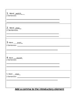Independent Work Packet for Spelling and Grammar