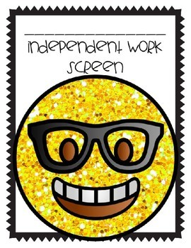 Independent Work Screen Template (Editable and Non-Editable Versions)