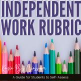 Independent Work Rubric: Growth Mindset