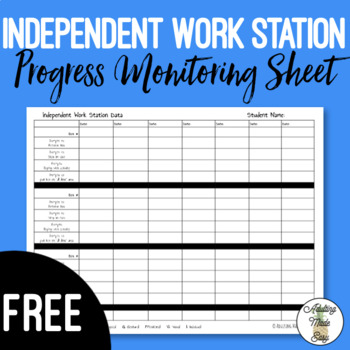 Independent Work Station Data Collection Sheet