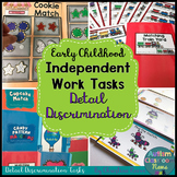 Independent Work Tasks: Discrimination Match Early Childhood & Special Education