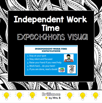Independent Work Time Expectations Visual