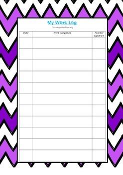 Independent Worker Cards: Classroom Management