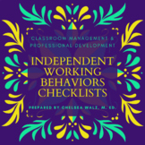 Independent Working Behaviors Checklist