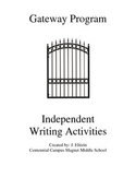 Independent Writing Activities Packet for Remdial Writers