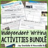 Independent Writing Activity Bundle - Emergency Plans