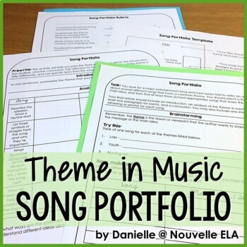 Independent Writing Activity - Theme in Songs Portfolio