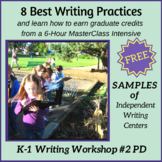 Independent Writing Center FREEBIE from Nellie Edge