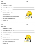 Independent Writing Checklist