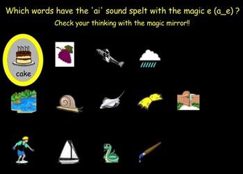Phonics - Long a Vowel Sound - Magic e - Interactive Whiteboard