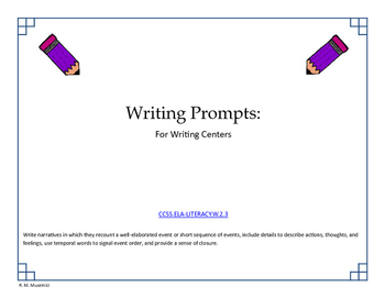 Independent Writing Prompts for Centers
