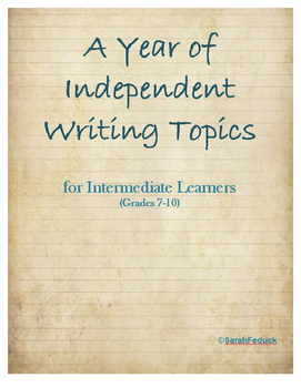 Independent Writing Prompts for Intermediate Learners