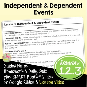 Algebra 2: Independent and Dependent Events