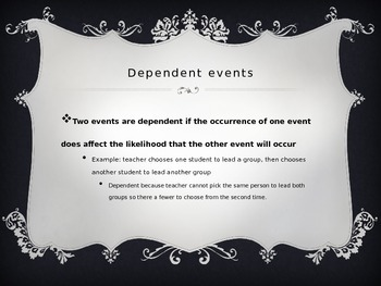 Independent and Dependent Events Powerpoint