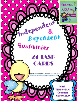 Independent and Dependent Quantities Task Cards