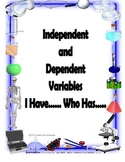 Independent and Dependent Variables I Have....Who Has....Zip around