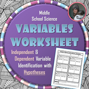 Independent and Dependent Variable Identification with Hypotheses Worksheet