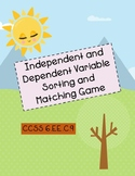 Independent and Dependent Variable Sorting and Matching Game