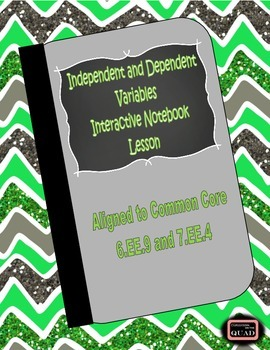 Independent and Dependent Variables Interactive Lesson {6.EE.9}