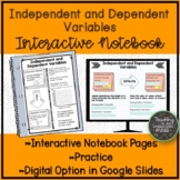 Independent and Dependent Variables Interactive Notebook Page