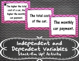 Independent and Dependent Variables Stack-Em Up! Activity