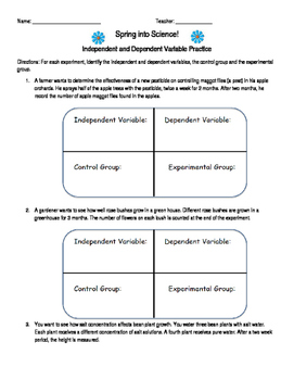 Independent Dependant Variables Worksheet | Teachers Pay ...