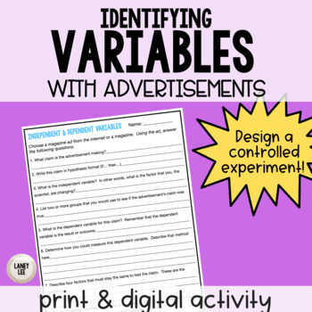 Independent and Dependent Variables with Magazine Ads