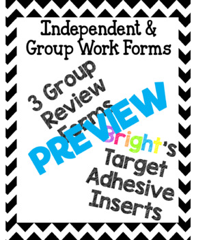 Independent and Group Work Forms