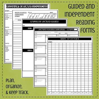 Guided Reading Binder English & Spanish/Carpeta de Lectura Guiada